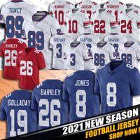 "26 Saquon Barkley 19 Kenny Golladay Jersey Daniel Jones Eli Manning Lawrence Taylor Jerseys 뉴욕 ""자이언츠""축구 스털링 셰퍼드 Toney"