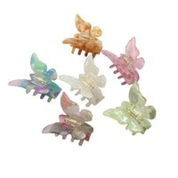 Hair Clips Acetate Resin Claw Lovely Fairy Butterfly Hairpin Tie-Dye Clip Gradient Colored Styling Tools Barrettes For Women Girls