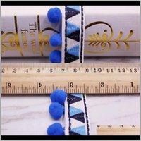 Искусство и ремесел POM Fabric аксессуары помпоны отделка кисточка мяч на ленте Швейное кружево для DIY Материал Craft одежда H B6PGA JPAR5