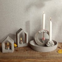 Baking Moulds Concrete Candlestick Molds Silicone For Desk Candle Holder