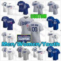Maillots de baseball de Los Angeles Cody Bellinger Coreger Mookie Betts Dodgers Max Muncy Walker Buehler Justin Turner Personnalisé Hommes Enfants Femmes