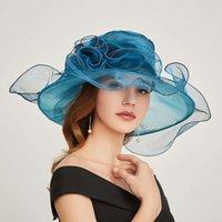 Chapeaux de chapeaux de chapeaux à la mode Organza plateau plat, facile à porter au printemps et en été