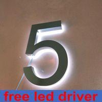 LED LIGHT LETTERS Personalizado Casa Retroiluminado al aire libre Números 3D Iluminado Firma Otro Puerta Hardware