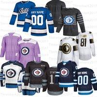 사용자 정의 Winnipeg Jets Hockey Jerseys 26 블레이크 휠러 40 Joel Armia 71 Julian Melchiori 1 Eric Comrie 81 Kyle Connor
