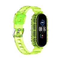 Soft TPU Strap Clear Crystal Watch Band + Bumper Estojo para Xiaomi 3 4 5 Huawei Watch Fit Pulseira Substituições de Substituição
