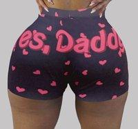 Mulheres Tracksuits Calças Curtas Sexy Personalizar Padrão Padrão Impresso Yoga Calças Senhoras Senhoras Calças De Moda Calcinha 2021