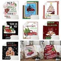 كورال الصوف عيد الميلاد لحاف 130 * 150 سنتيمتر تصميم عيد الميلاد الطباعة الرقمية بطانية مرح عيد الميلاد طبقة واحدة لحاف أريكة بطانية