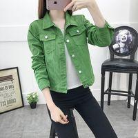 Top Denim Jacket Women Jeans Clothing Blue Black Spring Autumn Streetwear Long Sleeve Female Slim Short Tops Bomber Outwear Coat Womens Jackets and Coats