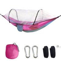Newnylon Parachute Hammock com mosquiteiro Nets Camping Survival Garden Swing Lazer Travel Portable Mobiliário ao ar livre EWB7109