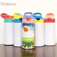 12oz Sublimation STRAIGHT Sippy Cups Kids Mugs Stainnless Steel Baby Bottle Drinking tumbler Double Wall Vacuum Feeding Nursing Bottle