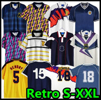 1982 1986 اسكتلندا ريترو Soccer Jersey Dalglish Gallacher McCoist 1998 1988 1989 90 91 92 93 94 95 96 97 98 99 Lambert Football Shirts
