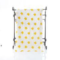 Baby Musslin Bath Bath Towel Infantil Coberturas 2 Camadas 100% Algodão Toalhas Neonatal Criança Animal Impresso Absorvete Absorvete Swaddle NHB7128