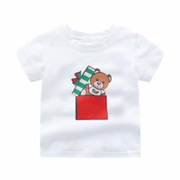 Casual Designer kids boys girls t-shirts polo clothes Little bear gift t shirt print children baby Infant Short Sleeve Cotton tee clothing