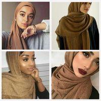Scarves 20 Pieces Lot Cotton Headband Hijabs Women Soft Solid Hijab Muslim Muffler Shawls Big Pashmina Wrap
