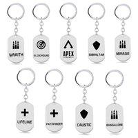 Keychains 2021 Spiel Apex Legends Schlüsselanhänger 8 Arten Edelstahl Keyringe Trendy Charme Auto Tasche Keychain Llavero Schmuck Zubehör