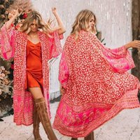Mulheres Casacos Mulheres Férias Soltos Flores Cardigan Tops Beach Kimono Casaco Verão Boho Floral Chiffon Casaco Longo Senhoras Senhoras Cobertura