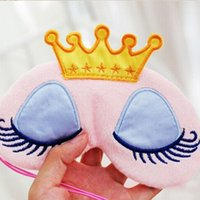 Cute Crown Mask Eye Blinder Winker Eyeshade Sleeping Blindfold Cover Donne Girls VPQI