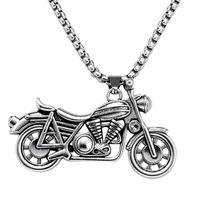 Homens Fantasma Rider Rock Punk Colares Pingentes Moda Aço Inoxidável Colar De Motocicleta Homens Mulheres Acc067 Correntes