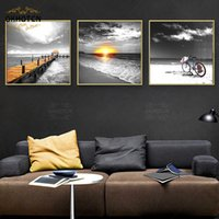 Paintings Black White Pography Scenery Picture Home Decor Wall Art Canvas Painting Landscape Poster Modern For Living Room