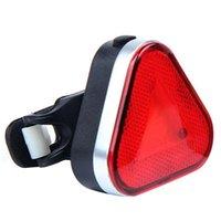 Bicicletas luces de advertencia Luces de advertencia COB triangular iluminación faros faros de carga de equipo de montar a caballo nocturno fuerte