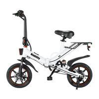 14 pouces pliante vélo électrique vélo blanc vélo de vélos sports à vélo à vélo 400W meuble à roulettes fournit une vitesse maximale de 25 km / h et pente de 30 degrés pliable en e-vélo pliable