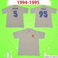 Echt Zaragoza Fussball Jersey Retro 1994 1995 Brehme de Jogo Raríssima Vintage Camiseta de Futbol 94 95 Classic Football Hemd Uniform Spanien Padua
