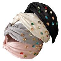 Mädchen Haarschmuck Sticks Plissee Stirnbänder Kinder Kinder Rhinestone Diamant Kopf Bands B8033