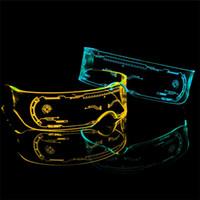 Suprimentos de festa LED Óculos criativos Flash Luminosos Óculos LED Óculos Futuros Futuros Tecnologia Espetáculos Bar Flash Glasseszc211