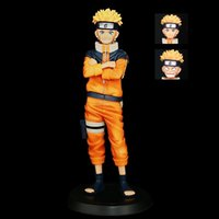 고품질 버전 얼굴 변경 어린 시절 Naruto 그룹 세로 박스 손으로 만든 인형