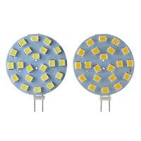 G4 LED 전구 샹들리에 스포트 라이트 조명 12V 24V 2W 원형 후드 빛 124V VV 절약 에너지 교체 할로겐 램프