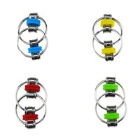 Novelty Games 4 colors Decompression Vent Chain Metal Clasp Key Ring Fidget Toy Swivel Link Finger Training