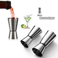 15 30ml Stainless Steel Cocktail Shaker Measure Cup Bar Tools Dual Shot Drink Spirit Measures Jigger Kitchen Gadgets