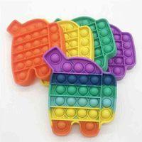 Didget Toys Finger Toys Simple Poppers Push Bubble Autism Специальный стресс Красочные силиконовые декомпрессионные игрушки H480GS0 на продажу оптом