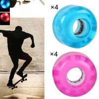 Longboard Cruiser LED LED Up Skateboard Wheels Party Parts PU Resplandor Luces Skateboarding