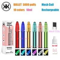 Bar Pre-fill 5000 Kit Puffs XXL Plus E RGB RandM Dazzle Battery Light BULLET Rechargeable Cigarette Vape 10ml Disposable System Mesh Co Xupt