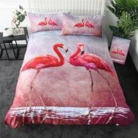 Flamingo Bedding Set Bedroom Decor Boys Girls Kids Gift Duvet Comforter Cover 2 3 Piece Bedspread With Pillowcase Sets