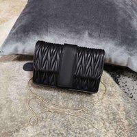 7A + Tasarımcılar Yeni Stil Ithal Kuzu Cilt Omuz Çantası 5BH095 Kristal Boncuk Halka Matkap Toka Buzlu Paslanmaz Çelik Çıkarılabilir Metal Zincir Kadın Çanta