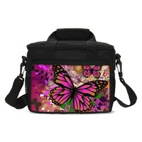 Ice Packs Isothermic Bags Butterfly Cooler Kids Women Picnic Wine Case Totes Food Carry Box Thermal Lunch Insulate Sac Isotherme Bolsa Termi