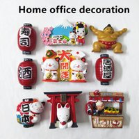 Fridge Magnets Japanese-style Refrigerator Magnet Stickers, Exquisite Japanese Cartoon Pattern Home Decorations, Handicraft Gifts