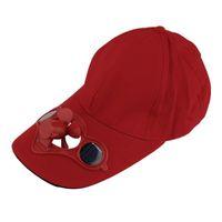 Sum Spor Açık Şapka Kap Güneş Güneş Enerjisi Ile Güç Serin Fan Bisiklet Golf Beyzbol 4 Renk Caps Maskeleri