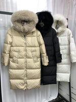 Winter ladies down cotton coats are fashionable and loose. Street wear cotton coat coats. Women's hooded long parka coats are thick and warm. Three colors are available