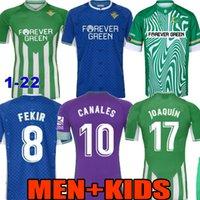 Erkekler + Çocuklar 20 21 22 Gerçek Betis Ev Futbol Formaları Joaquin B.Iglesias Camisetas Loren Juanmi Bartra Tello A.Günye Suit Canales Fekir 2021 2022 Çocuk Futbol Gömlek
