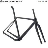 Quadro de cascalho Estrutura de Bike Estrutura completa de carbono, disco de bicicleta cyclocross com eixo através de
