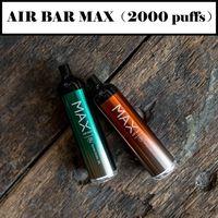 Air Bar Max Lux Dispositivo descartável Cigarro Construído 500mAh Bateria 2.7ml Vape Vape 1000 Puffs Dab Pen Starter Kit vs Buff Plus