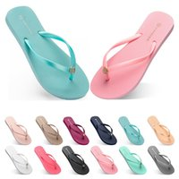seventy one Slippers Beach shoes Flip Flops womens green yel...