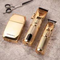Tosquiadeira de cabelo elétrico sem fio Três modelos de carga rápida barbear barbeiro cabeleireiro aparador aparador homens corte máquina de corte