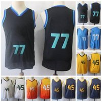 Youth Kids 77 Doncic Jersey 45 Mitchell City Shife Size S-XL