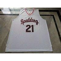 668668Rare jersey de basquete homens juventude mulheres vintage # 21 rudy gay arcebispo spalding High School College tamanho s-5xl personalizado todo nome ou número
