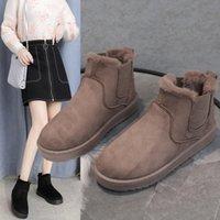 Boots Botas De Nieve Terciopelo Grueso Para Mujer, Zapatos Cortos Algodn, Clidos, A La Moda, Talla Grande, Invierno, 2021