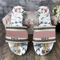 Yüksek Kaliteli Bayan Düz Terlik Peri Çok Yönlü Tarzı Scuffs Yaz Sandalet Plaj Slayt Terlik Kızlar Çevirme Loafer'lar Vintage Işlemeli Çiçek